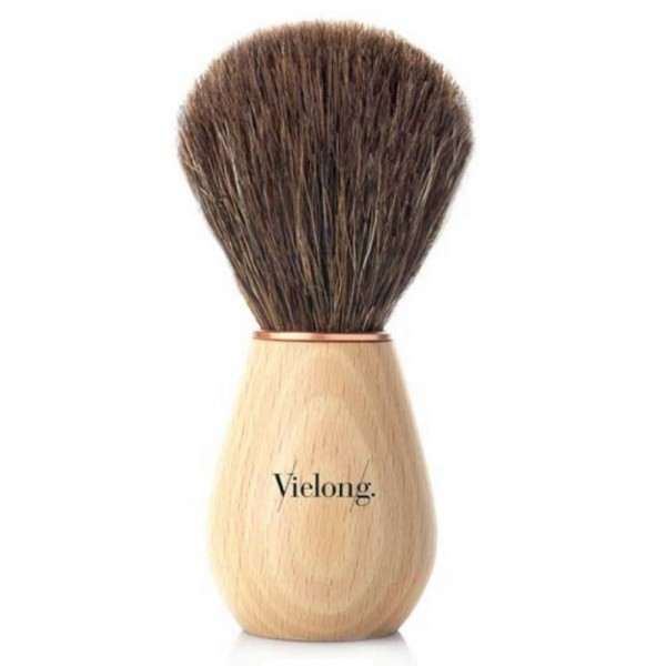 Wave shaving brush, beechwood and horse hair Ø21mm
