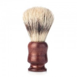 j&m shaving brush, wood and pure bristle Ø21mm