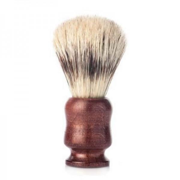 Brocha de afeitar j&m de madera y cerdas naturales Ø21mm