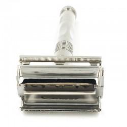 Maquinilla de afeitar con cierre mariposa