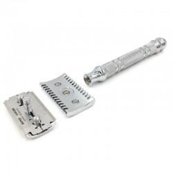 Maquinilla de Afeitar cromada de peine abierto