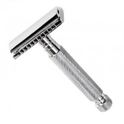Maquinilla de Afeitar cromada de viaje de peine cerrado