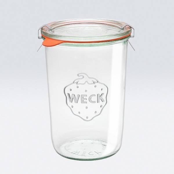 Tarro de vidrio redondo WECK hermético 0,85l.