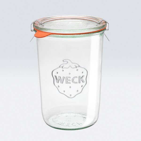 tarro de vidrio redondo weck hermtico 085l - Tarros De Vidrio