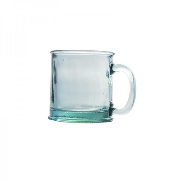 Taza de vidrio reciclado