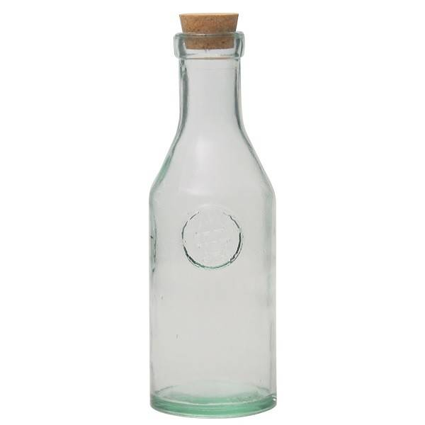 Botella de vidrio reciclado 1l.
