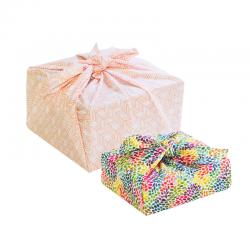 Emballage cadeau réutilisable en tissu Furoshiki petit