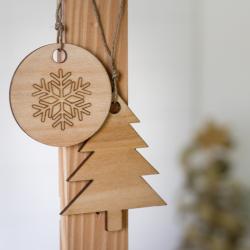 Adornos de Navidad ecológicos - Pack de 3