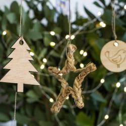 Estrellas de Navidad artesanales de esparto - Pack de 3