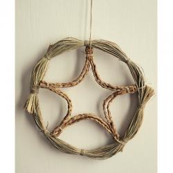 Couronne de Noël naturelle et artisanale
