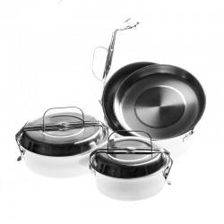 Stainless steel lunch box 16cm.