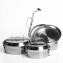 Stainless steel lunch box 18cm.