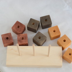 Encajable tricolor de madera