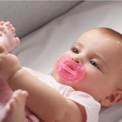 Chupete 0-6 meses Chicco silicona rosa