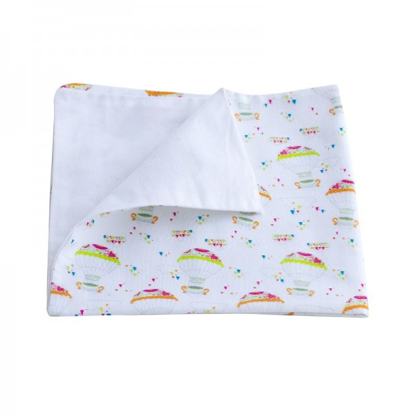 Servilleta de tela de algodón orgánico - doble capa-