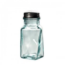 Recycled glass salt bottle