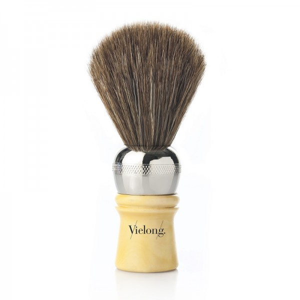 Professional Baber Shaving Brush Brown Horse Hair. Ø21mm.