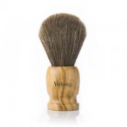 Brocha de afeitar de madera de olivo normal