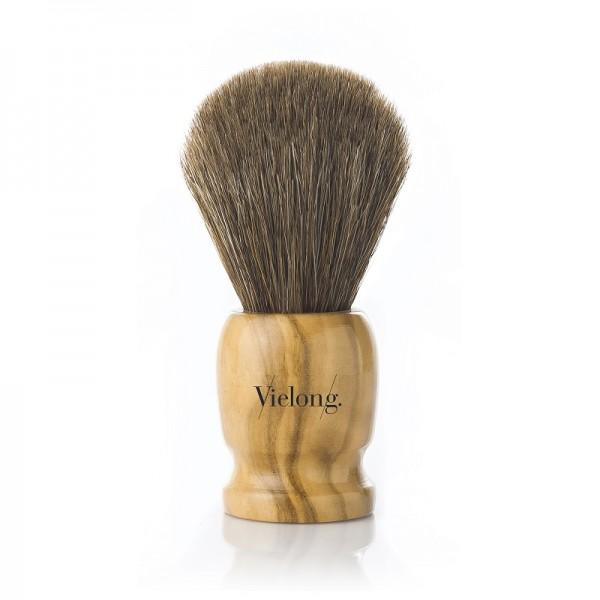Pinceau de rasage en bois d'olivier Ø21mm