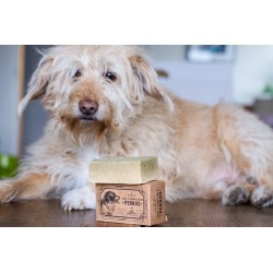 Solid natural dog shampoo