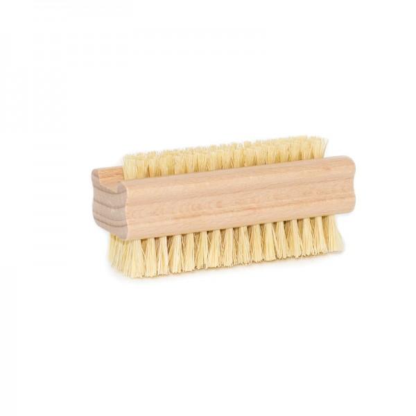 Brosse à ongles en fibres naturelles végétales double face