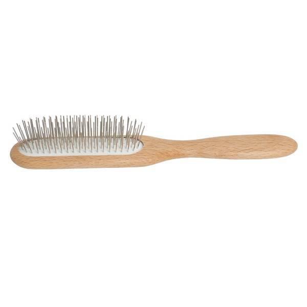 Cepillo plano de pelo con púas de metal
