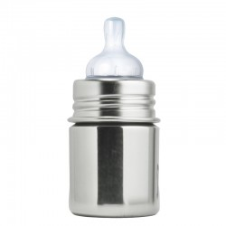 """Pura"" 150ml. Stainless Steel Baby Bottle"