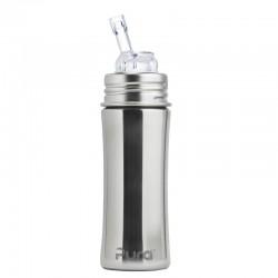 """Pura"" 325ml. Straw Teat Stainless Steel Baby Bottle"