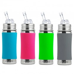 """Pura"" 325ml. Straw Teat Stainless Steel Baby Bottle"