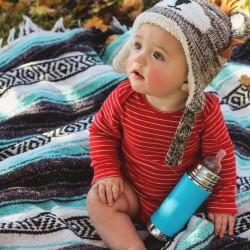 """Pura"" 325ml. Stainless Steel Baby Bottle"