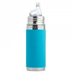 """Pura"" 260ml. Sippy Spout Vacuum Insulated Stainless Steel Baby Bottle"