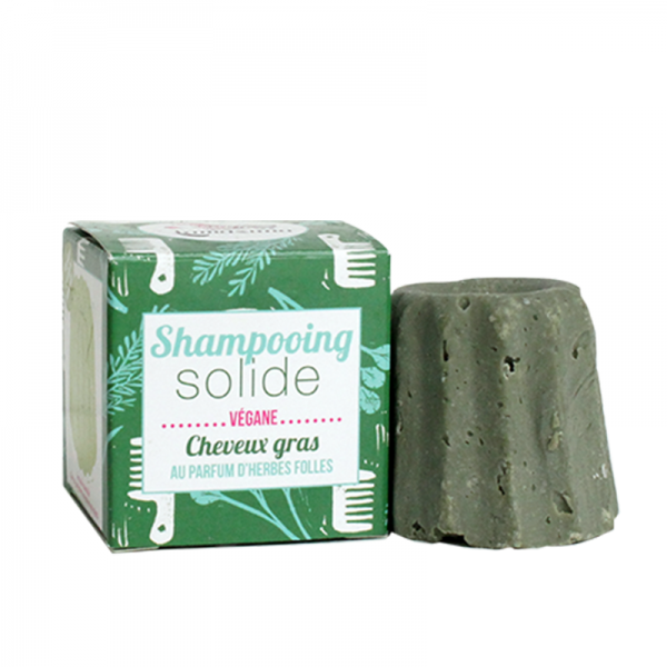 Natural wild herb shampoo bar for oily hair