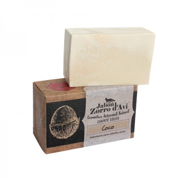 Natural coconut shampoo and soap bar