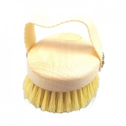 Dry Body Brushing & Bath Brush with Vegetal Fiber Bristles