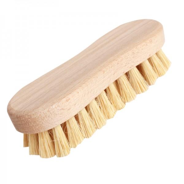 Brosse à récurer en bois et fibres végétales dures et très dures