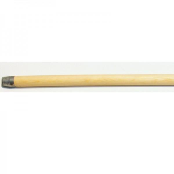 Manche à balai en bois non-traité avec pas de vis. 140 cm.