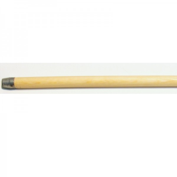 Untreated wooden broom stick with thread. 140 cm.