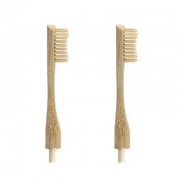 """2 Cabezales de repuesto para cepillo de bambú """"Headless"""""""