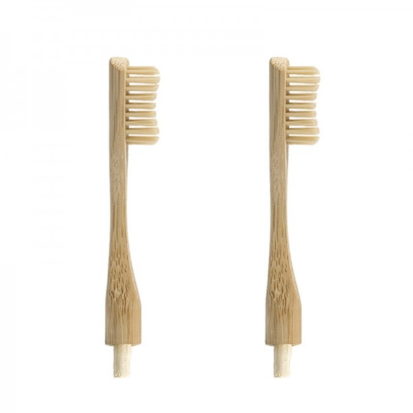 """2 Replacement Heads for """"Headless"""" Bamboo Toothbrush"""