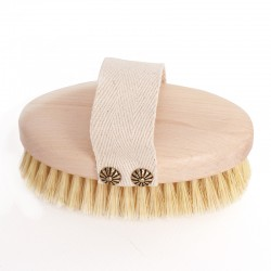 Dry Body Brushing & Bath Brush with Natural Bristles