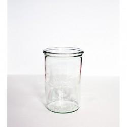 """copy of Pot en verre rond hermétique """"DECO"""" 1L."""