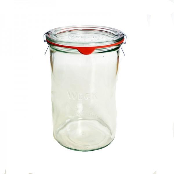 """Pot en verre rond hermétique """"MOLD"""" 1L."""