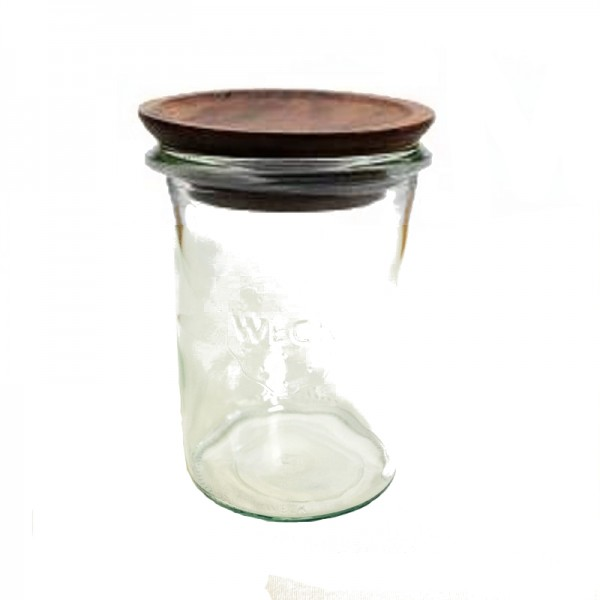 "Tarro Hermético de vidrio ""MOLD"" 1L. con tapa de madera"