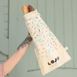 "Organic Cotton Bread Bag ""Minimall"""