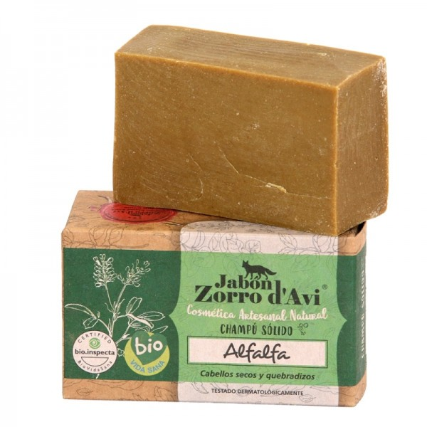 Savon et shampoing bio à l'extrait de luzerne