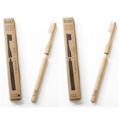 """""""BOO"""" Adult Bamboo Toothbrush with interchangeable head"""