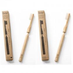 Cepillo dientes de bambú BOO con cabezal intercambiable Adultos