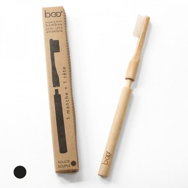 Brosse à dents tête interchangeable en bambou Boo pour adultes