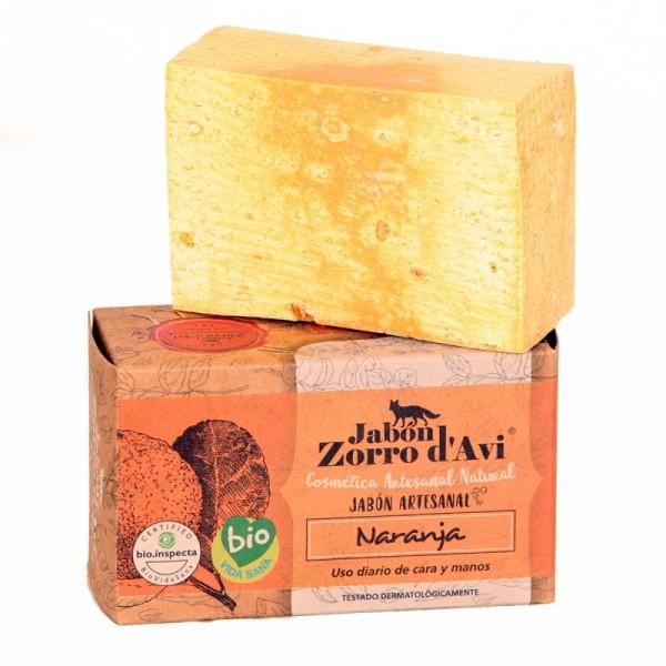 Orange organic soap bar