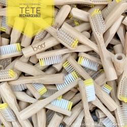 """2 têtes souples de rechange pour brosse en bambou """"BOO"""""""
